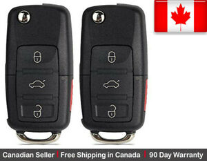 2 New Replacement Remote Key Fob Flip 3 Button For Volkswagen Read Description