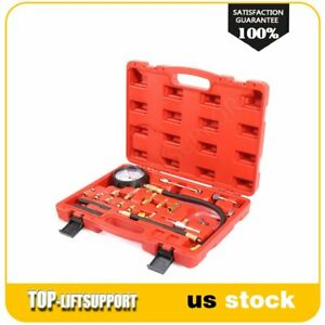 High Quality Fuel Injection Gauge Pressure Tester Test Car System Pump Tool Kit