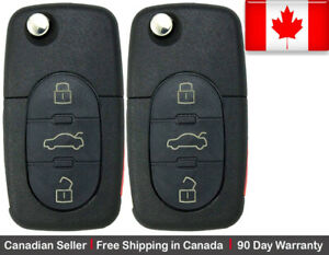 2 New Replacement Remote Key Fob 3 Button For Volkswagen Read Description