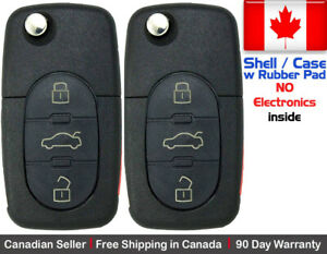 2 New Replacement Remote Key Fob 3 Button For Volkswagen Shell Only