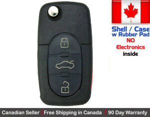 1x New Replacement Remote Key Fob Flip For Audi Shell Only