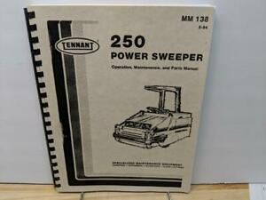 Tennant 250 Power Sweeper Operation Maintenance And Parts Manual