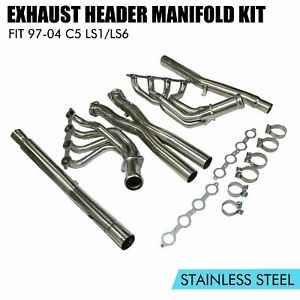 For 05 13 Chevy Corvette C6 Ls2 Ls3 Stainless Exhaust Headers Manifolds