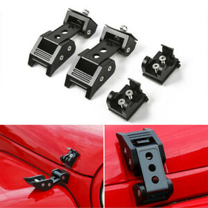 Hood Latch Locking Catch Buckle For Jeep Wrangler Jk Jl Unlimited 07 Accessorie