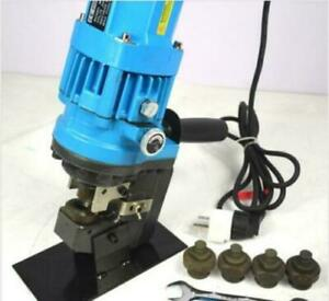 Jp 20 10t Electric Hydraulic Hole Puncher Steel Plate Hole Punching Machine 110v