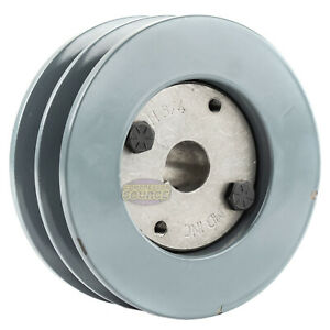 B Section Dual Groove 2 Piece 4 5 Pulley W 3 4 Sheave Shiv Cast Iron 5l V Belt