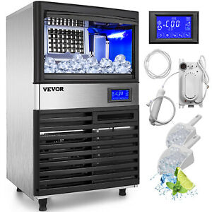 155lbs Commercial Ice Maker Ice Cube Making Machine 70kg Lcd Control Panel 5 11