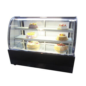 48 Refrigerated Cake Showcase 220v Display Case Pie Bekery Cabinet 39 2 50