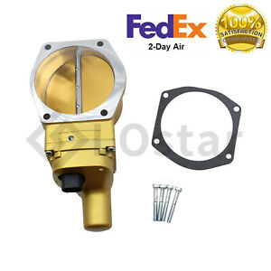 Gold 102mm Boosted Drive By Wire Electronic Throttle Body For Ls2 Ls6 Ls9 Lsx