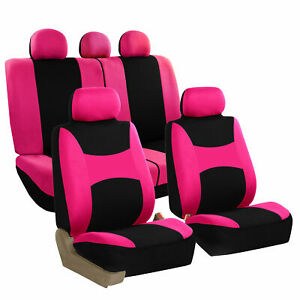 Fh Group Auto Seat Covers For Car Truck Suv Van Universal Protector Cover Pink
