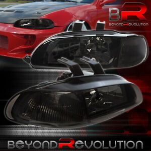 For 92 95 Honda Civic Ej Eg 4dr 1pcs Smoked Head Lights With Corner Lamps Pair