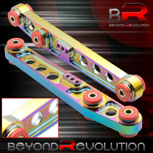 For 88 91 Honda Crx Si D15 D16 Rear Traction Lower Control Arm Set Neo Chrome