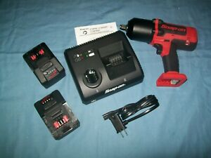 New Snap On Lithium Ion Ct8850k2 18v 18 Volt Cordless 1 2 Impact Wrench Gun