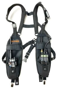 X fire 2 pack Radio Vest Chest Harness Universal Carry Case Front Holster