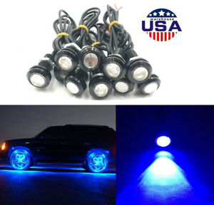 10 Waterproof Underglow Led Blue Light For Car Truck Atv Utv Raptor Offroad Boat
