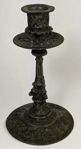 Continental Gothic Style Pewter Candlestick 19th Century