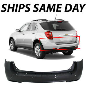 New Primered Rear Upper Bumper Cover Fascia For 2010 2015 Chevy Equinox W Park