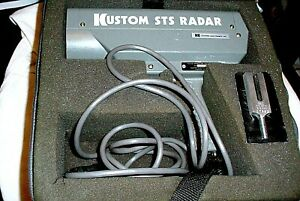 Kustom Sts Pistol Grip Radar Gun Speed Detector Case Tuning Fork Powers Up