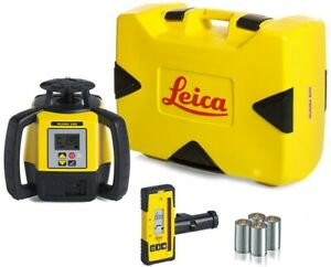 Leica Rugby 680 Dual Grade Laser Level With Rod Eye 140 And Alkaline Battery