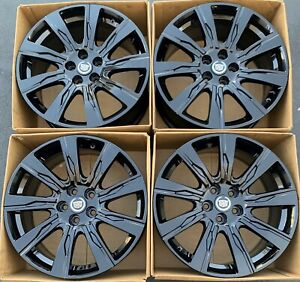 20 Cadillac Xt4 Oem Wheels Rims Gloss Black Factory 4826 Chevy Impala 2019 2020