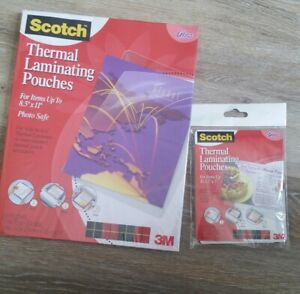 New Scotch Thermal Laminating Pouches Lot