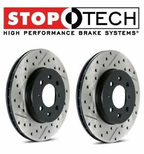 1994 2004 Mustang Cobra Mach 1 Stoptech Cross Drilled Slotted Rotors Front Pair