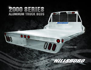 Hillsboro Aluminum Replacement Flatbed Fits All Short Bed Pickup Gooseneck Hitch