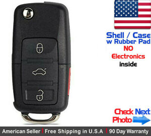 1 New Key Fob Remote Flip 3 Button For Volkswagen Read Description Shell Only