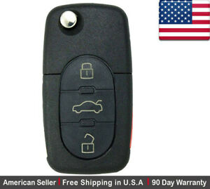 1 New Replacement Remote Key Fob 3 Button For Volkswagen Read Description