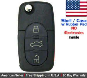 1 New Remote Key Fob 3 Button For Volkswagen Read Description Shell Only
