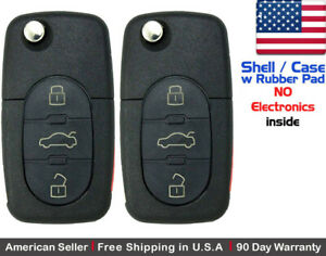 2 New Remote Key Fob 3 Button For Volkswagen Read Description Shell Only