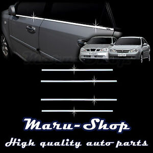 Chrome Door Window Sill Belt Line Cover Tirm For 02 08 Chevrolet Lacetti 4dr