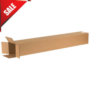 Lot Of 25 6 X 6 X 48 Tall Cardboard Corrugated Boxes 65 Lbs Capacity Shipping
