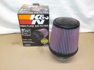 K n Re 0930 Cold Air Intake Clamp On Air Filter 3 Flange 6 Tall