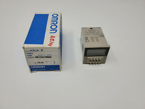 New Omron H3ca 8 Timer Relay Module 100 110 120vac 8 Pin 99 9s To 9990h