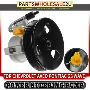 Power Steering Pump W Pulley For Chevy Aveo Pontiac G3 Wave 2007 2018 96801443