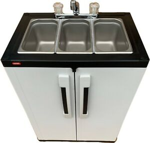 Portable Sink Mobile Concession Three Compartment Hot Water