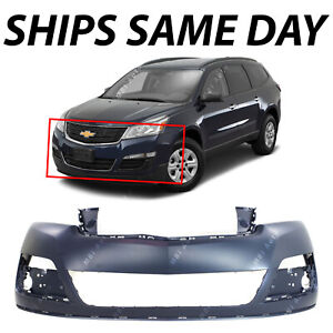 New Primered Front Upper Bumper Cover Fascia For 2013 2017 Chevy Traverse 13 17