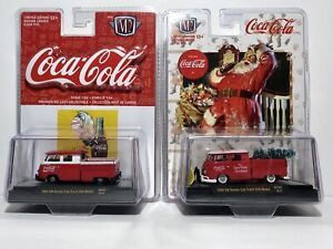 M2 Coca Cola Die Cast, 1959 & 1960VW Double Cab, Limited Edition. FREE SHIPPING
