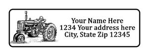 400 Old Tractor Personalized Return Address Labels 1 2 Inch By 1 3 4 Inch