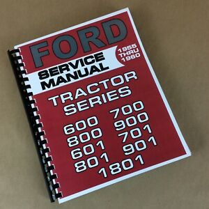 Ford 1811 1821 Industrial Tractor Service Manual Repair Shop Book Loader Backhoe