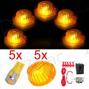 5 Amber 9069a Cab Marker Clearance Top Light Lamp Wiring Kit For Chevy Gmc Truck