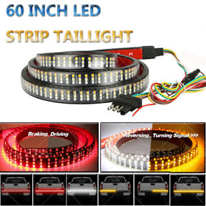 60 Inch 3 row 504 Led Strip Tailgate Light Bar Reverse Drl Brake Car Truck Lamp