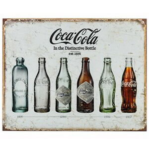 Coca Cola Metal Sign  1886 Bottle Refreshments Soft Drinks