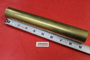 1 3 8 Brass C360 Round Rod 9 Long Solid New Lathe Bar Stock 1 375 Od H02
