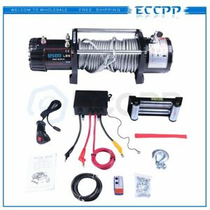 Eccpp 9500lbs 12v Electric Recovery Winch Towing Truck Wireless Remote Control