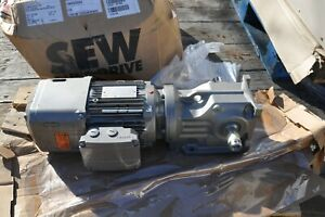 Sew eurodrive K47drn90s4 be2hr dh Parallel Shaft Output Rpm 68 1 5 Hp New
