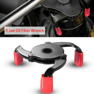 Car 3 Jaws 2 Ways Oil Filter Wrench Adjustable Spanner Remover Tool Accessory