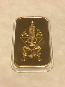 Coca Cola Clarksville 1oz .999 Silver Bar Gold Plated GP 75th Anniv RAREST!