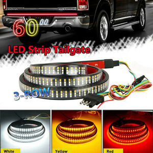 60 Triple 504 Led Truck Tailgate Light Strip Bar For Ford F 150 F 250 F 350